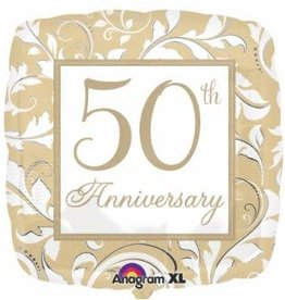 "50th Anniversary 18"" Mylar Balloon"