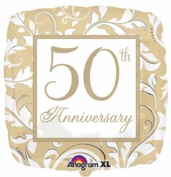 "50th Anniversary 18"" Mylar Balloon"