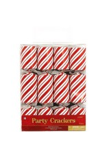 Candy Cane Crackers - Red & White (8)