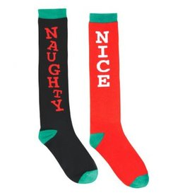 Naughty And Nice Knee Socks