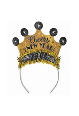 """""""Cheers to a New Year"""" Prismatic Tiara - Black, Silver, Gold"""