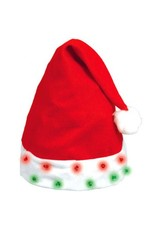 Flashing Light Bulb Santa Hat