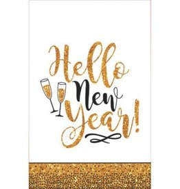 Gold Glitter New Year Plastic Tablecover