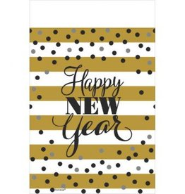 Golden New Year Plastic Table Cover