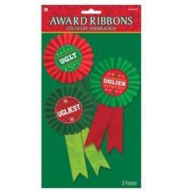 Ugly Sweater Contest Award Ribbon - Multi Pack