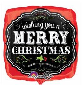 Christmas Chalkboard Mylar Balloon