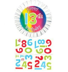 Customized Happy Birthday Button