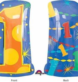 "Mylar #1 Multicolour Shape 18"" Balloon"