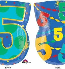 "#5 Multicolour Shape Mylar 18"" Balloon"