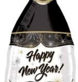 "Champagne New Years Bottle 36"" Mylar Balloon"