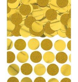 Glitter & Foil Circle Confetti Gold