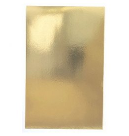 Gold Foil Solid Gift Wrap w/Hang Tab
