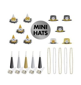 Glitter New Years Party Kit Mini Wearables for 10 People