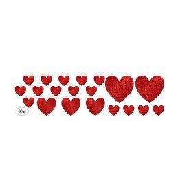 Glitter Heart Cutouts (20)