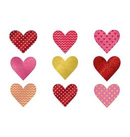 Glitter Dot & Chevron Heart Cutouts (9)