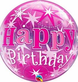"""Bubble 22"""" Birthday Pink Starburst Balloon"""