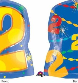 "Anagram #2 Multicolour Shape 18"" Mylar Balloon"