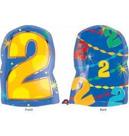 "#2 Multicolour Shape 18"" Mylar Balloon"