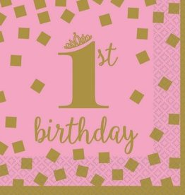 1st Birthday Girl Beverage Napkins (16)