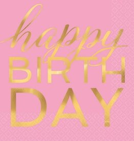 """Happy Birthday"" Luncheon Napkin Hot-Stamped (16)"