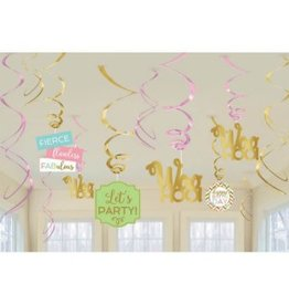 Confetti Fun Value Pack Swirl Decoration