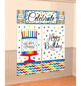 Bright Birthday Scene Setters Wall Decorating Kit