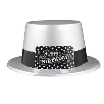 Black & White Birthday Hat