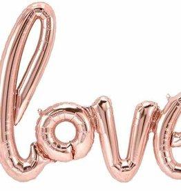 Love Script Air-filled Balloon Banner Rose Gold