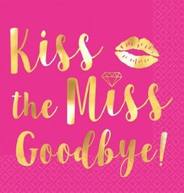 Kiss The Miss Goodbye Beverage Napkins, Hot-Stamped (16)