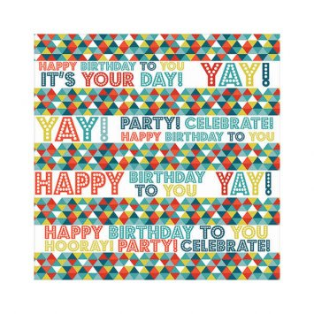Birthday Triangles Printed Jumbo Gift Wrap