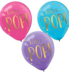 """Ready To Pop!""Printed Latex Balloons"