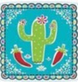 """Picado De Papel 7"""" Square Plates (18)"""