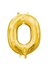 "Air-Filled Letter ""O""- Gold Balloon"