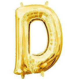 "Balloon Air-Filled Letter ""D""- Gold 16"""