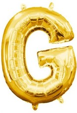 """Air-Filled Letter """"G""""- Gold 16"""" Balloon"""
