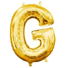 "Air-Filled Letter ""G""- Gold 16"" Balloon"
