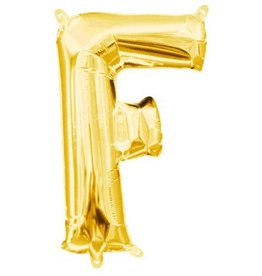 "Air-Filled Letter ""F""- Gold 16"" Balloon"