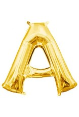 """Air-Filled Letter """"A""""- Gold 16"""" Balloon"""