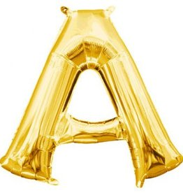 "Air-Filled Letter ""A""- Gold 16"" Balloon"