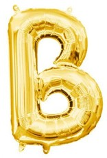 """Balloon Air-Filled Letter """"B""""- Gold 16"""""""