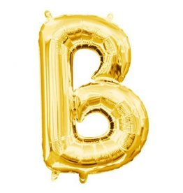 "Air-Filled Letter ""B""- Gold 16"" Balloon"