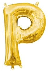 """Balloon Air-Filled Letter """"P""""- Gold 16"""""""