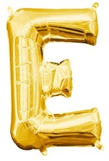 "Air-Filled Letter ""E""- Gold 16"" Balloon"