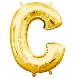 """Balloon Air-Filled Letter """"C""""- Gold 16"""""""