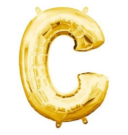 "Air-Filled Letter ""C""- Gold 16"" Balloon"