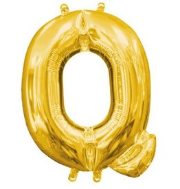 """Balloon Air-Filled Letter """"Q""""- Gold 16"""""""