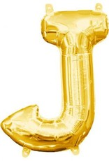 "Air-Filled Letter ""J""- Gold 16"" Balloon"