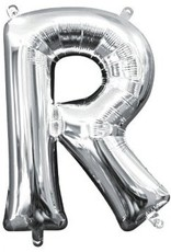 """Air-Filled Letter """"R""""- Silver Balloon"""