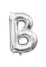 "Air-Filled Letter ""B""- Silver Balloon"
