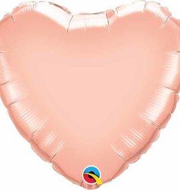 "Heart Rose Gold Balloon 18"""